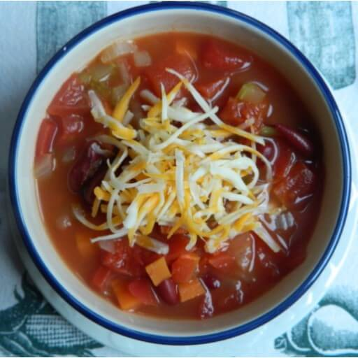 Meatless Monday Recipes: Cheesy Chilli Soup