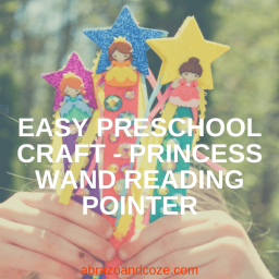 Easy Preschool Craft Princess Wand Reading Pointer.