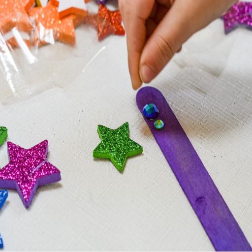 Easy Preschool Craft Reading Pointer in progress