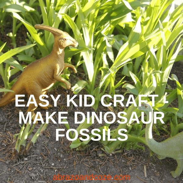 easy kid craft make dino fossils