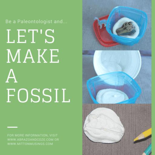 easy kid craft make dino fossils in progress