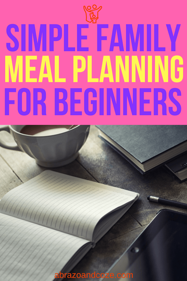Simple Family Meal Planning for Beginners. Write your plan in your bullet journal, or print out the provided PDF Menu Planner PDF.