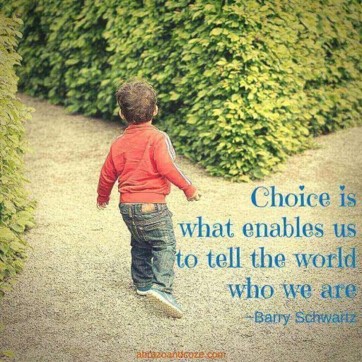 Choice is what enables us to tell the world who we are ~ Barry Schwartz