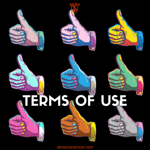 Terms of Use feature photo - colourful thumbs up