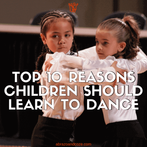 Top 10 Reasons Children Should Learn To Dance - whether your children are young like the pair in this image, or older, there are many benefits of learning ballroom dance.