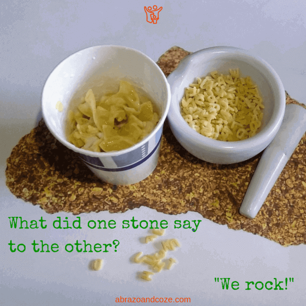 "What did one stone say to the other? ""We rock!"" Mixing bits of pasta, and ""weathering"" them by crushing, is just one small step in this easy DIY sedimentary rock activity for kids, as they discover the rock formation process while creating a model sedimentary pasta rock."