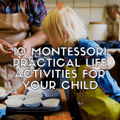 Whether you want your child to learn baking, like the child in the image, or you simply want your child to be able to function as an adult, these Montessori practical life activities will have them eager to learn more.