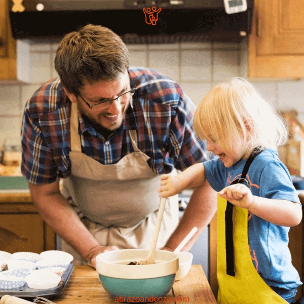 Get busy making memories in the kitchen with your kids, and 52+ other indoor activities with kids. The whole family can have fun together.