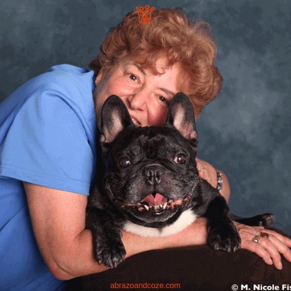 Author Deborah Stevenson with her dog Soren, the inspiration behind the book Soaring Soren.